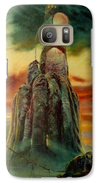 Galaxy Case featuring the painting Defenders Of Rocky Desert by Henryk Gorecki