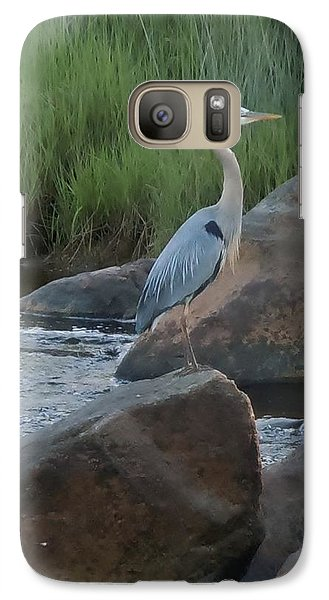 Galaxy Case featuring the photograph Definitely Blue Heron by Francine Frank