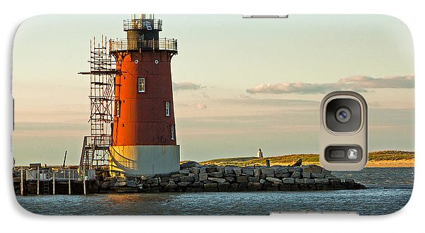Galaxy Case featuring the photograph Delaware Breakwater Light by Robert Pilkington