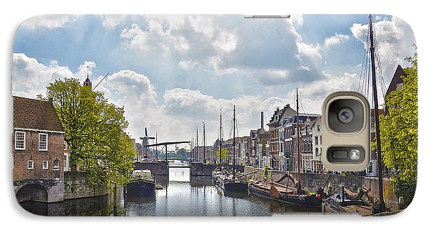 Galaxy Case featuring the photograph Delfshaven Rotterdam by Frans Blok