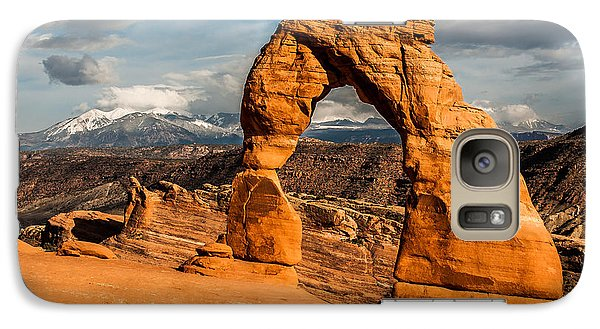 Galaxy Case featuring the photograph Delicate Arch by Jay Stockhaus