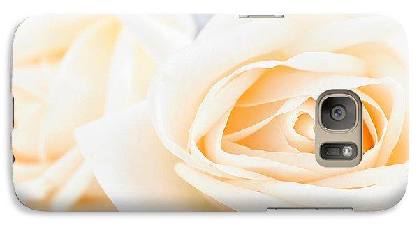 Rose Galaxy S7 Case - Delicate Beige Roses by Elena Elisseeva