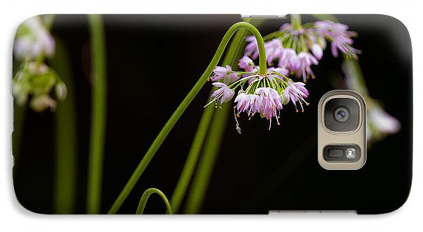Galaxy Case featuring the photograph Delicate Pink Drops by Haren Images- Kriss Haren