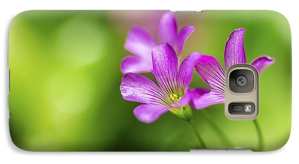 Galaxy Case featuring the photograph Delicate Purple Wildflowers by Leigh Anne Meeks