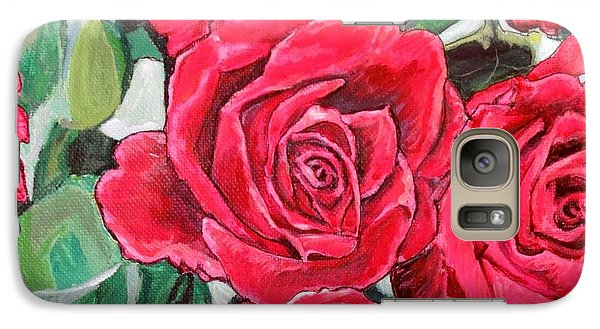Galaxy Case featuring the painting Delight Of Grandma's Roses Painting by Kimberlee Baxter