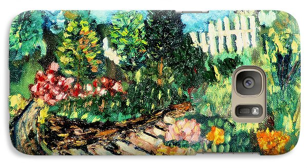 Galaxy Case featuring the painting Delphi Garden by Michael Daniels
