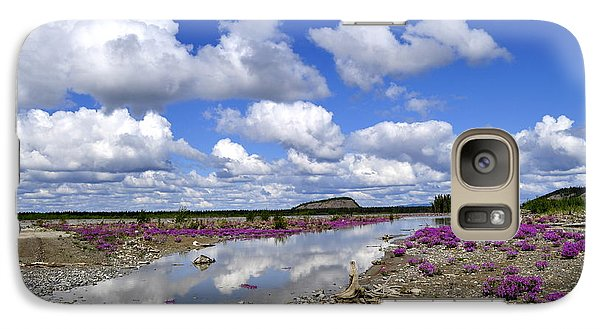 Galaxy Case featuring the photograph Delta Junction Summer by Cathy Mahnke