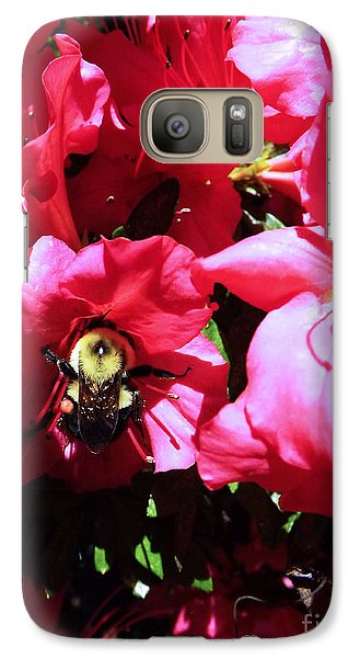 Galaxy Case featuring the photograph Delving Into Sweetness by Robyn King