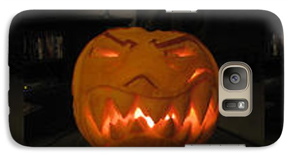 Galaxy Case featuring the sculpture Demented Mister Ullman Pumpkin 2 by Shawn Dall