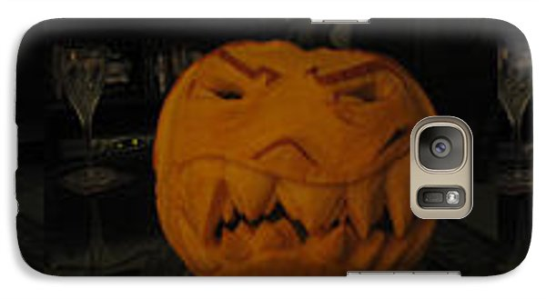 Galaxy Case featuring the sculpture Demented Mister Ullman Pumpkin 3 by Shawn Dall