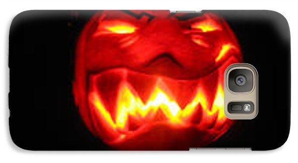 Galaxy Case featuring the sculpture Demented Mister Ullman Pumpkin by Shawn Dall