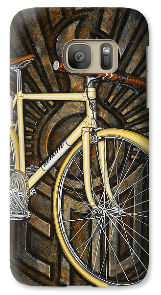 Galaxy Case featuring the painting Demon Path Racer Bicycle by Mark Howard Jones