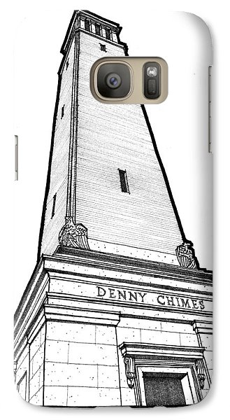 Galaxy Case featuring the drawing Denny Chimes by Calvin Durham