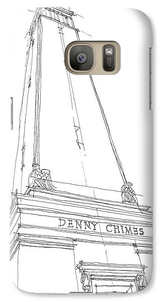 Galaxy Case featuring the drawing Denny Chimes Sketch by Calvin Durham