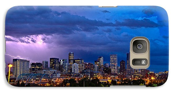 Denver Skyline Galaxy Case by John K Sampson