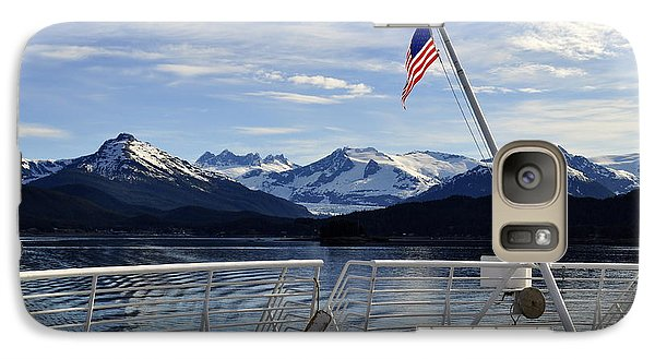 Galaxy Case featuring the photograph Departing Auke Bay by Cathy Mahnke
