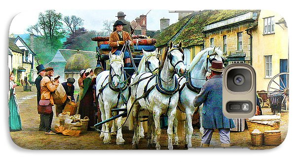 Galaxy Case featuring the photograph Departing Cranford by Paul Gulliver