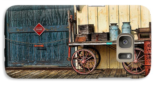 Galaxy Case featuring the photograph Depot Wagon by Kenny Francis
