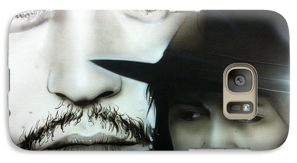 Johnny Depp - ' Depp ' Galaxy S7 Case by Christian Chapman Art