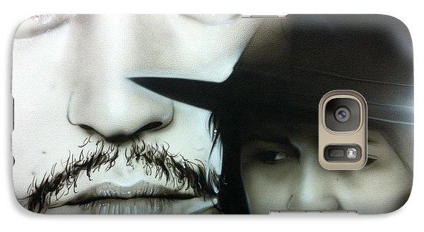 Johnny Depp - ' Depp ' Galaxy Case by Christian Chapman Art