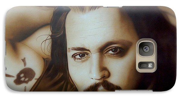Johnny Depp - ' Depp II ' Galaxy S7 Case by Christian Chapman Art