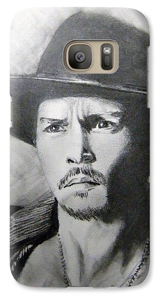 Galaxy Case featuring the drawing Depp by Lori Ippolito