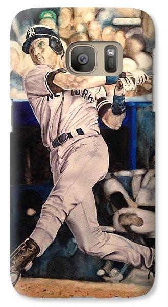 Galaxy Case featuring the painting Derek Jeter by Lance Gebhardt
