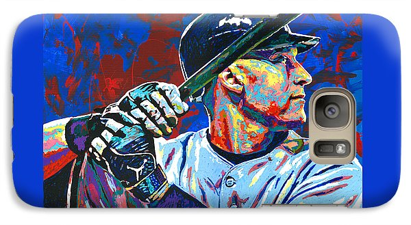 Derek Jeter Galaxy Case by Maria Arango
