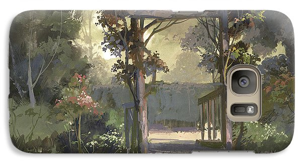 Galaxy Case featuring the painting Descanso Gardens by Michael Humphries