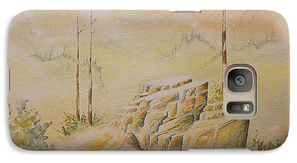 Galaxy Case featuring the painting Deschutes Canyon by Richard Faulkner