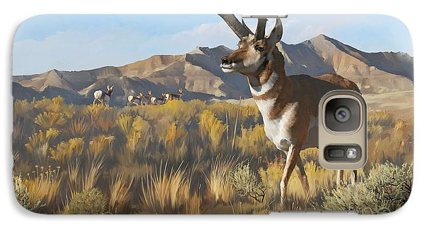Galaxy Case featuring the painting Desert Buck by Rob Corsetti
