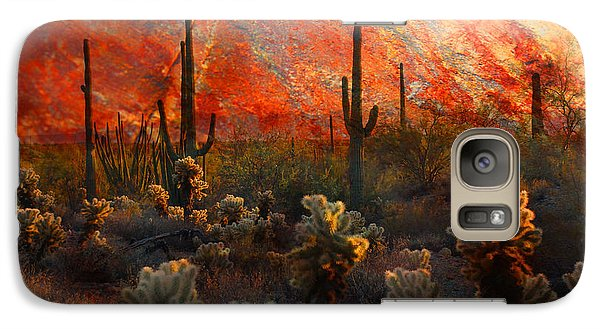 Galaxy Case featuring the photograph Desert Burn by Barbara Manis
