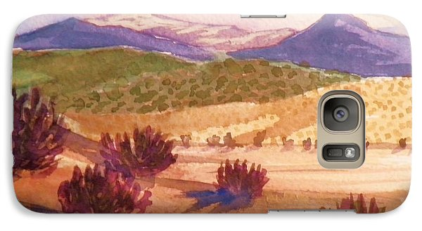 Galaxy Case featuring the painting Desert Contrasts by Suzanne McKay