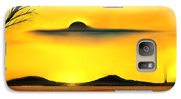 Galaxy Case featuring the painting Desert Eclipse by Yul Olaivar