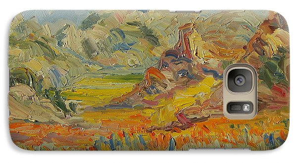 Galaxy Case featuring the painting Desert Flowers by Thomas Bertram POOLE
