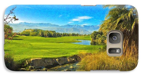Galaxy Case featuring the photograph Desert Golf Resort Pastel Photograph by David Zanzinger