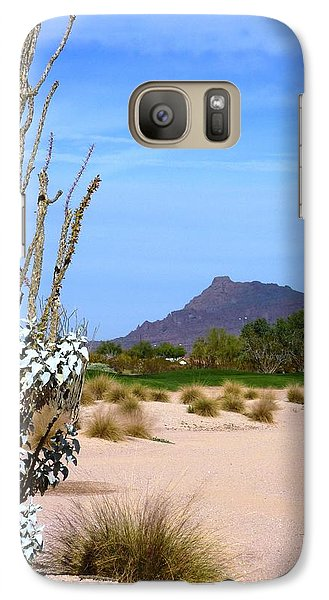 Galaxy Case featuring the photograph Desert Mountain by Mike Ste Marie