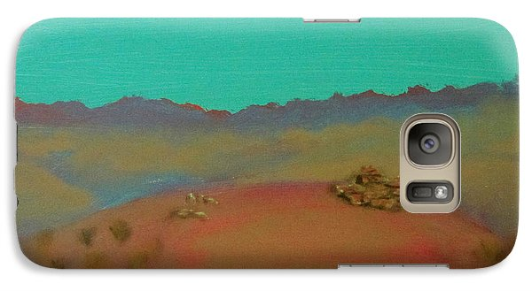 Galaxy Case featuring the painting Desert Overlook by Keith Thue