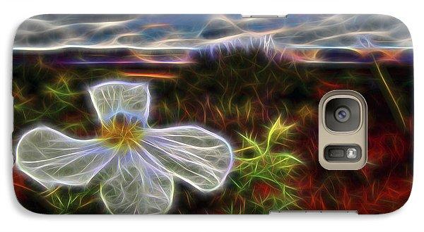 Galaxy Case featuring the digital art Desert Primrose 1 by William Horden