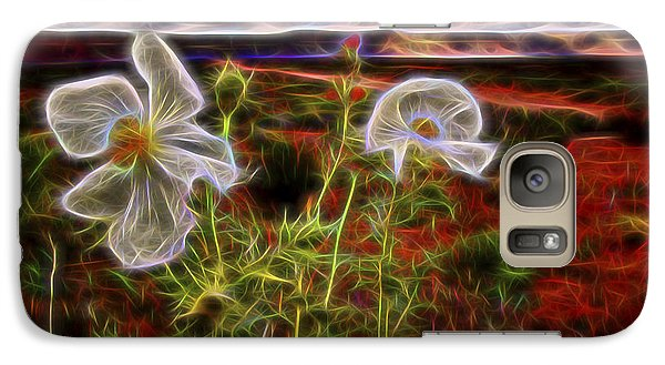 Galaxy Case featuring the digital art Desert Primrose 2 by William Horden