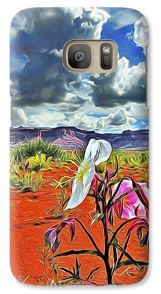 Galaxy Case featuring the digital art Desert Primrose 3 by William Horden