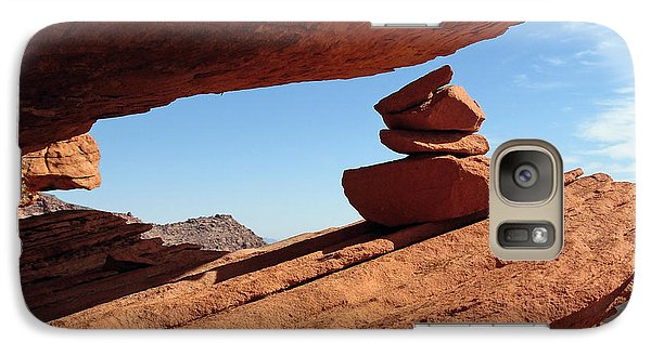 Galaxy Case featuring the photograph Desert Signpost by Alan Socolik