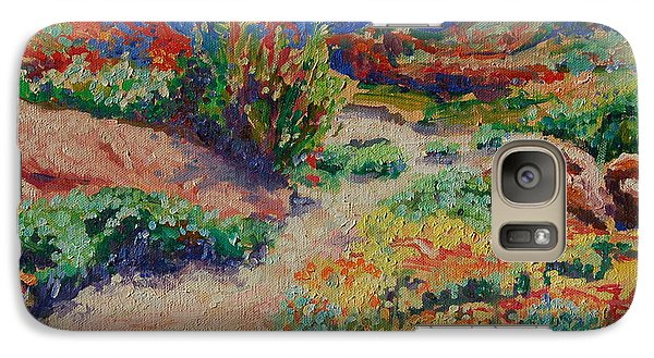 Galaxy Case featuring the painting Desert Spring Flowers Namaqualand by Thomas Bertram POOLE