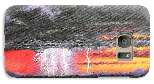 Galaxy Case featuring the painting Desert Storm by Dan Wagner