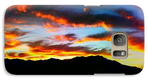 Galaxy Case featuring the photograph Desert Sunset 15 by Chris Tarpening