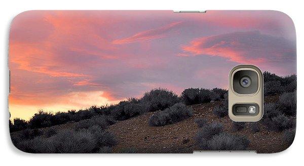 Galaxy Case featuring the photograph Desert Sunset by AJ  Schibig