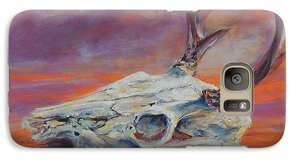 Galaxy Case featuring the painting Desert Sunset Deer by Mary Schiros