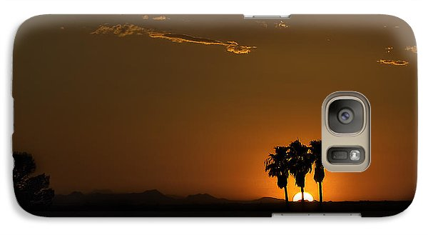 Galaxy Case featuring the photograph Desert Sunset by Lynn Geoffroy