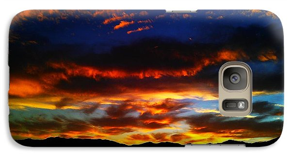 Galaxy Case featuring the photograph Desert Winter Sunset  by Chris Tarpening