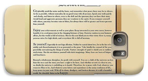 Desiderata Old English Square Galaxy S7 Case
